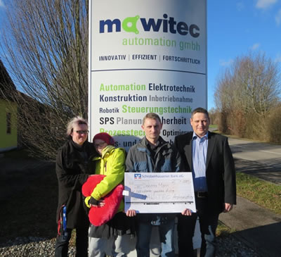 Spendenaktion mawitec automation gmbh 2014